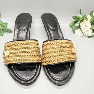 Eric Javits | Gold Braided Sandals